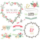 Vintage Wedding Flora Heart Shape Stock Photography