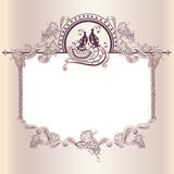 Vintage wedding frame with bird Stock Photos