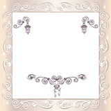Vintage wedding frame Stock Photos