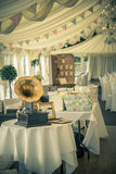 Vintage wedding and gramaphone Royalty Free Stock Images