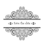 Vintage wedding heading with swirly design Royalty Free Stock Photography