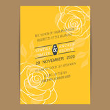 Vintage wedding invitation card Royalty Free Stock Photo