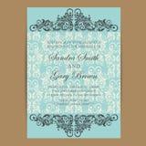 Vintage wedding invitation card Royalty Free Stock Photography