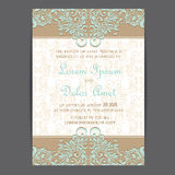 Vintage wedding invitation card Stock Photography