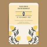 Vintage wedding invitation card Royalty Free Stock Photos
