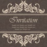 Vintage Wedding Invitation Card Royalty Free Stock Photography