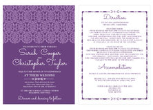 Vintage Wedding Invitation Card Invitation with ornaments Royalty Free Stock Photos