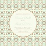 Vintage wedding invitation card Stock Image