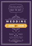 Vintage wedding invitation Stock Image