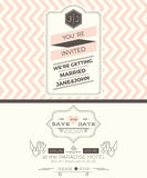 Vintage wedding invitation card template Royalty Free Stock Photo