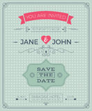 Vintage wedding invitation card template Stock Photo
