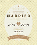 Vintage wedding invitation card template Stock Photography