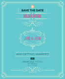 Vintage wedding invitation card template Stock Image