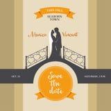 Vintage wedding invitation Royalty Free Stock Image