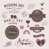 Vintage Wedding Invitation Design Graphic Elements Stock Photography