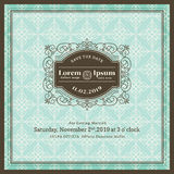 Vintage Wedding invitation frame template Royalty Free Stock Photo