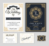 Vintage wedding invitation Mehndi mandala design Stock Photography