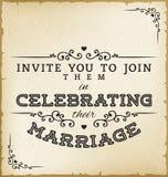 Vintage Wedding Invitation Royalty Free Stock Photo