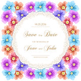 Vintage wedding invitation with roses Royalty Free Stock Image