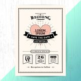 Vintage wedding invitation save the date card royalty free illustration