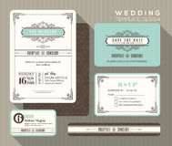 Vintage wedding invitation set design Template Royalty Free Stock Photography