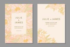 Vintage Wedding Invitation set royalty free illustration