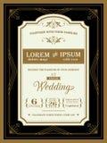 Vintage Wedding invitation template Royalty Free Stock Photo