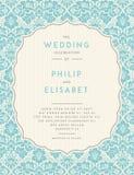 Vintage Wedding Invitation template vector illustration