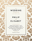 Vintage Wedding Invitation template Royalty Free Stock Images