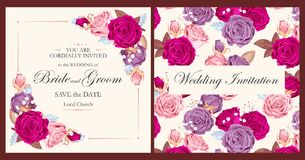 Vintage wedding invitation vector illustration