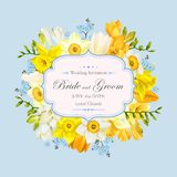 Vintage wedding invitation Royalty Free Stock Images