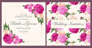 Vintage wedding invitation Royalty Free Stock Photos
