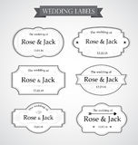 Vintage wedding labels  in white color background Royalty Free Stock Photography