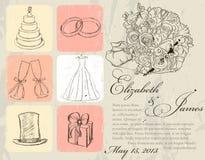 Vintage wedding poster. Stock Photo