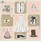 Vintage wedding poster. Royalty Free Stock Images