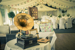Vintage wedding reception Royalty Free Stock Images