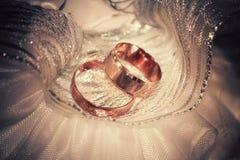 Vintage wedding rings Royalty Free Stock Image