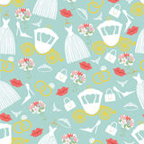 Vintage wedding seamless pattern set.Bridal shower Royalty Free Stock Photo