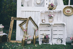 Vintage wedding stock photo