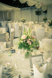 Vintage wedding table setting Stock Photo