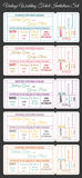 Vintage wedding ticket invitations set Stock Photo