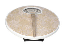 Vintage weight scale. Old Weight scale with a handle royalty free stock photo