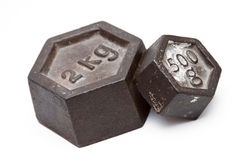 Vintage weights. Picture pic isolated stock image