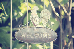 Vintage welcome signboard Royalty Free Stock Photos