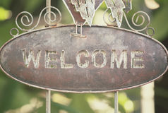Vintage welcome signboard Royalty Free Stock Photography