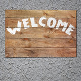 Vintage welcome wooden sign Stock Images