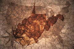 vintage West Virginia state map royalty free stock photography