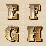 Vintage western alphabet letters font design vector illustration Royalty Free Stock Photography