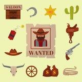 Vintage western cowboys vector signs american symbols  Stock Image