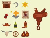 Vintage western cowboys vector signs american symbols vintage Stock Images